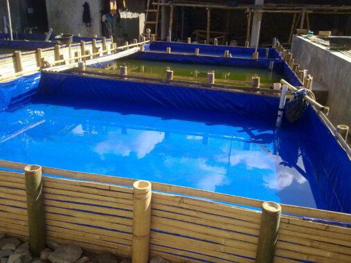 Persiapan kolam terpal
